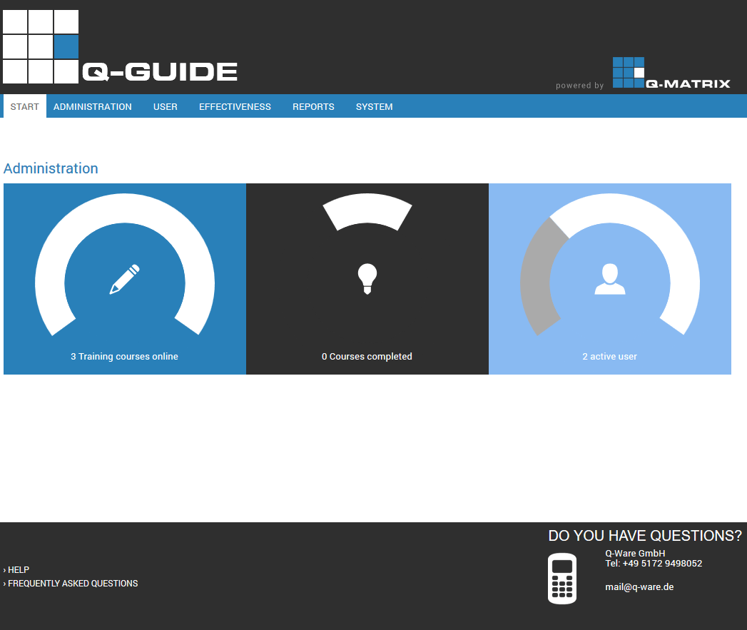 Track Courses Status